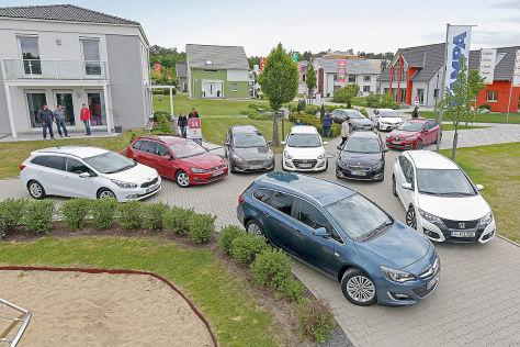 Kia cee'd SW, VW Golf Variant, Ford Focus Turnier, Opel Astra Sports Tourer, Hyundai i30 Kombi, Seat Leon ST, Toyota Auris Touring Sports, Renault Mégane Grandtour, Peugeot 308 SW, Honda Civic Tourer