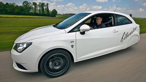 Umbau-Trick Ellenator: Seat Ibiza als Dreirad