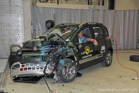 Skoda Superb, Hyundai i20, Fiat Panda Cross: Crashtest Juni 2015