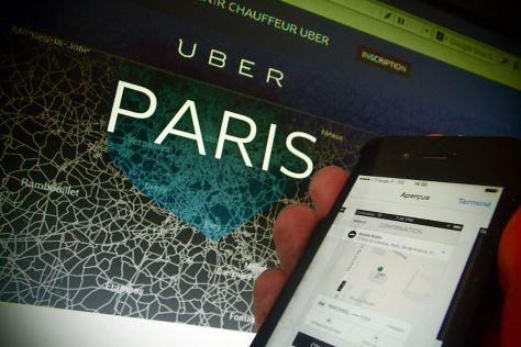 Taxifahrer-Proteste gegen UberPop in Paris