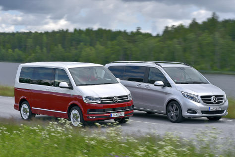Bus Battle Vw T6 Trifft Mercedes V Klasse Autobild De