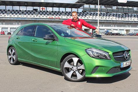 Mercedes A-Klasse Facelift (IAA 2015): Sitzprobe
