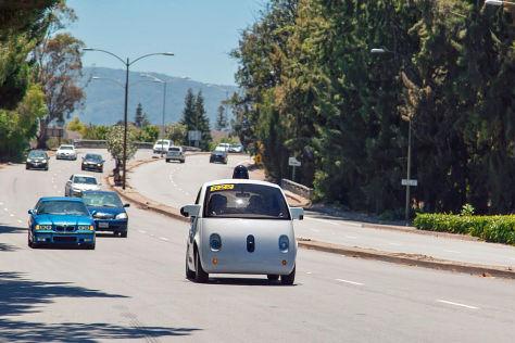 Google Car auf der Straße