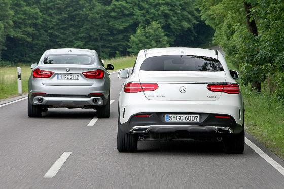 Dick Und Sportlich Mercedes Gle Coup 233 Trifft Bmw X6