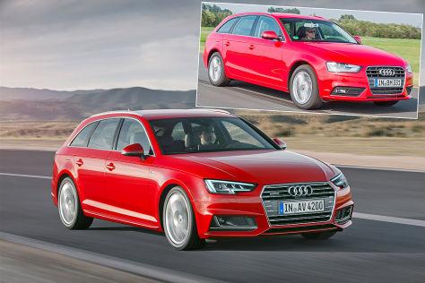 Audi A4 (IAA 2015): Alt gegen neu
