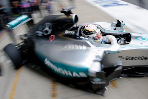 Lewis Hamilton hat die Probleme abgeschüttelt, fuhr makellos zur Bestzeit