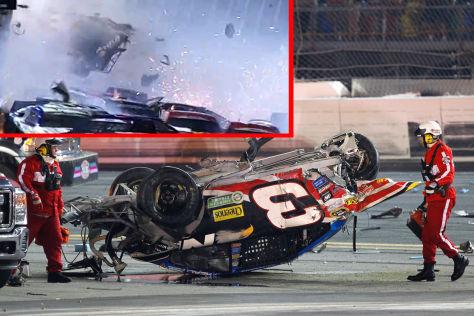 Heftiger Unfall bei NASCAR-Rennen