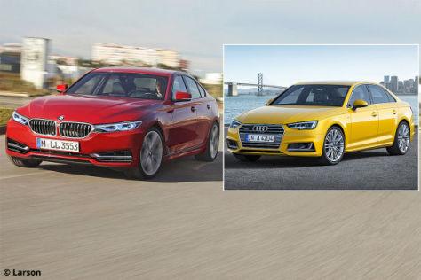 Neuer BMW 3er (2017) gegen Audi A4: Vorschau