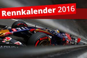 Saison 2016 mit 21 Rennen