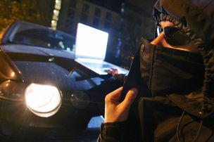 Hacker auf dem Schirm