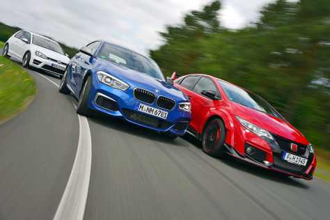 BMW M135i Honda Type-R VW Golf R