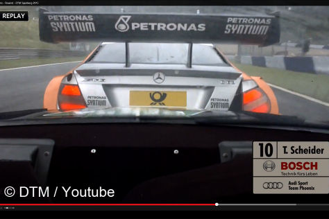 Timo Scheider muss für seine Aktion gegen die Mercedes büßen