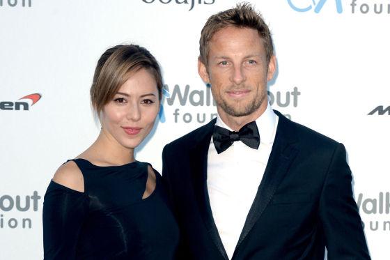 Jenson Button und Ehefrau Jessica Michibata