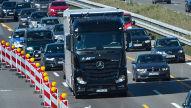 Autonomer Daimler-Lkw: Testfahrt