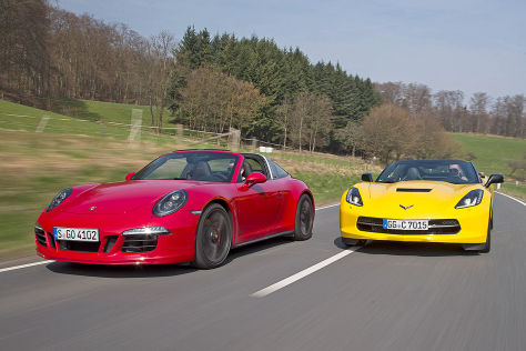 Corvette Stingray/Porsche 911 Targa GTS: Test
