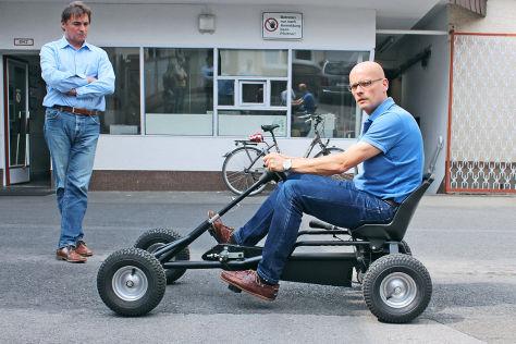 Kettcar-Tour mit Prototyp