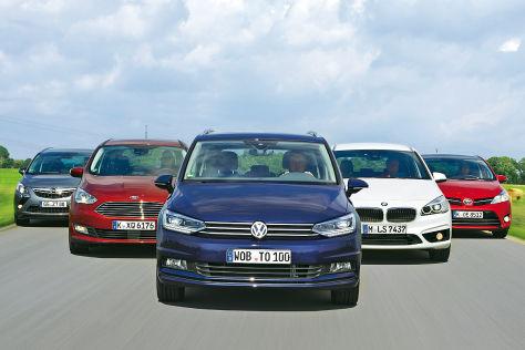 Fünf Kompakt-Vans im Test
