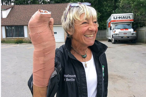 Hautkrebsverdacht bei Heidi Hetzer
