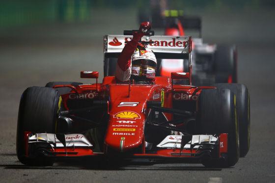 Siegerjubel Vettel
