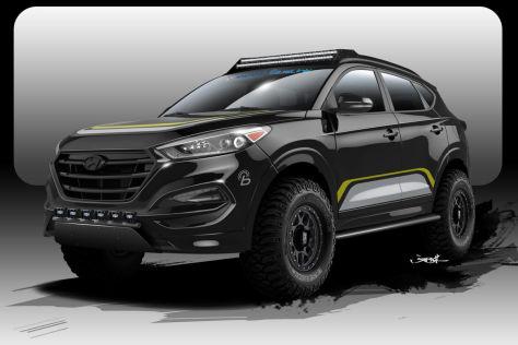 Hyundai Tucson Sema 2015 Vorstellung Autobild De