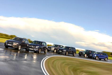 Sechs große SUVs im Test