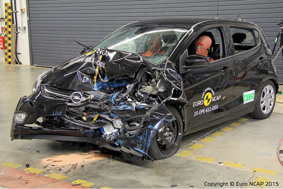 opel karl euro ncap crashtest 2015. Black Bedroom Furniture Sets. Home Design Ideas