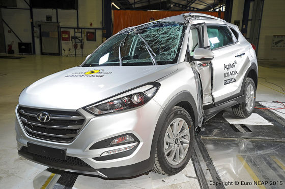 hyundai tucson bestnote beim euro ncap crashtest 2015. Black Bedroom Furniture Sets. Home Design Ideas