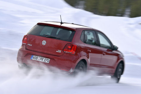 VW Polo: Winterreifen-Test 2015