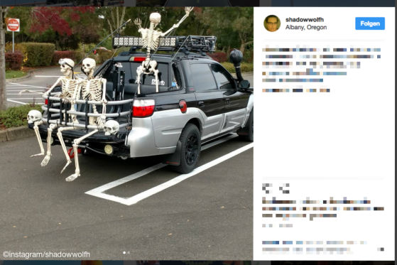 Halloween-Kostüm fürs Auto