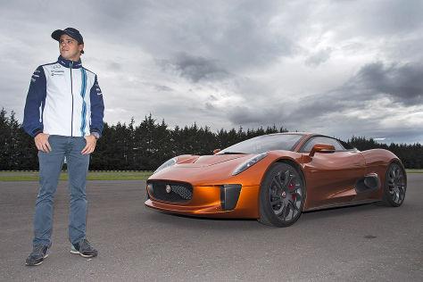 """Jaguar C-X75: F1-Star Felipe Massa fährt Stuntauto aus """"Spectre"""""""