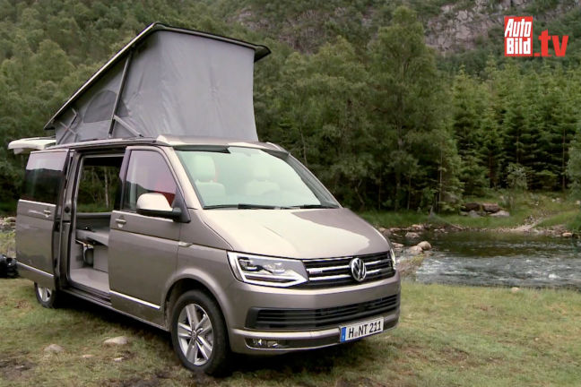 video vw t6 california 2015. Black Bedroom Furniture Sets. Home Design Ideas