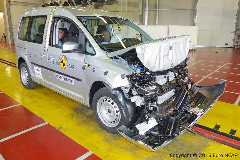 VW Caddy im Euro NCAP-Crashtest