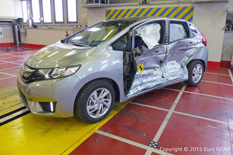 Honda Jazz im Euro NCAP-Crashtest