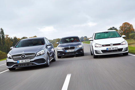 BMW 1er Mercedes A-Klasse VW Golf