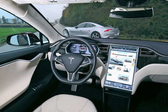 limousinen unter strom tesla model s trifft auf fisker karma. Black Bedroom Furniture Sets. Home Design Ideas