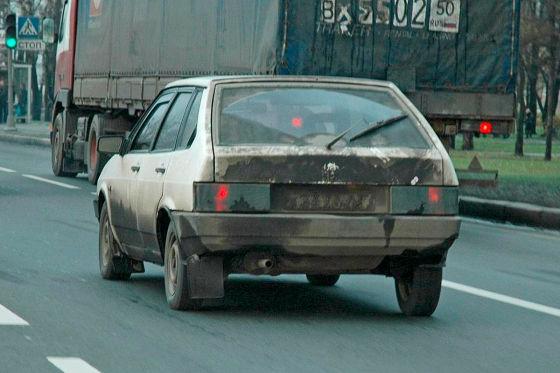 Verkehrschaos in Russland