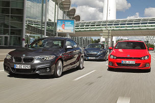 VW Scirocco �rgert BMW 2er