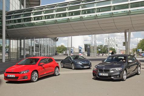 BMW 2er Peugeot RCZ VW Scirocco