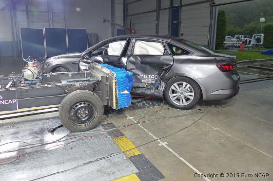 Renault Talisman beim Euro-NCAP-Crashtest