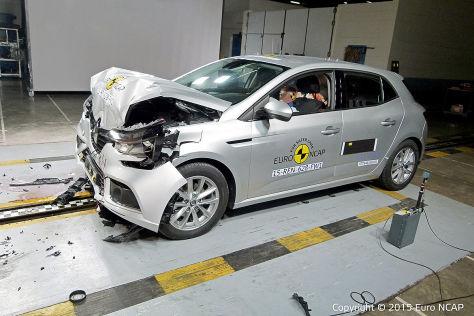 Renault Mégane im Euro-NCAP-Crashtest