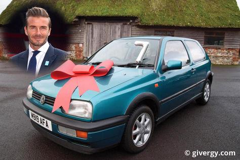 David Beckhams VW Golf wird versteigert