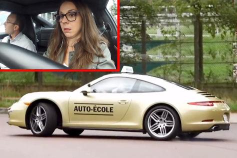 Porsche als Fahrschulauto