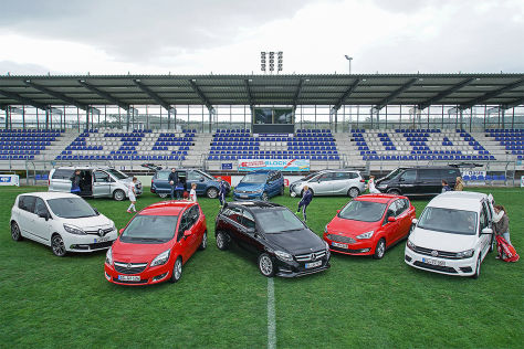 Renault Scénic Energy TCe, Mercedes V-Klasse 220d, Opel Meriva 1.6 CDTI, VW Sharan 2.0 TDI, VW Touran 2.0 TDI, Mercedes B-Klasse 200, Opel Zafira Tourer 1.4, Ford C-Max 2.0 TDCi, VW T6 Multivan 2.0 TDI, VW Caddy