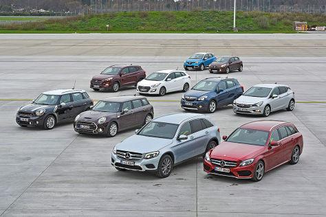 Vergleich SUVs gegen Kompakte