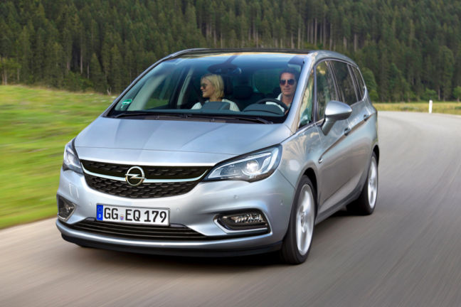 video opel zafira 2016. Black Bedroom Furniture Sets. Home Design Ideas