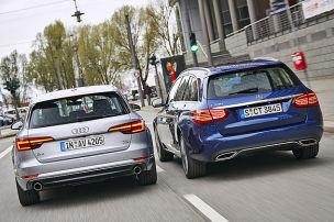 Audi A4 Avant/Mercedes C-Klasse T-Modell: Test