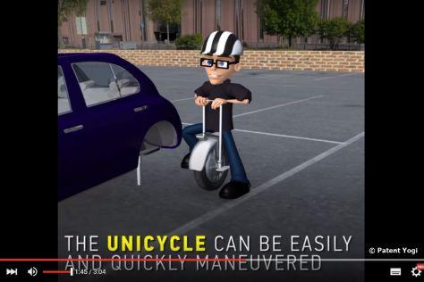 Ford Unicycle: Patent für motorisiertes Einrad