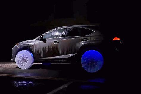Lexus NX mit Eis-Rädern