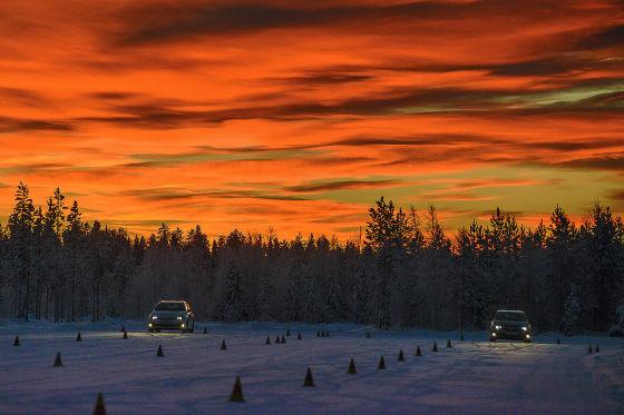 Winterreifentest in Lappland