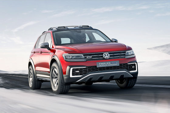 vw tiguan gte active concept detroit 2016 vorstellung. Black Bedroom Furniture Sets. Home Design Ideas